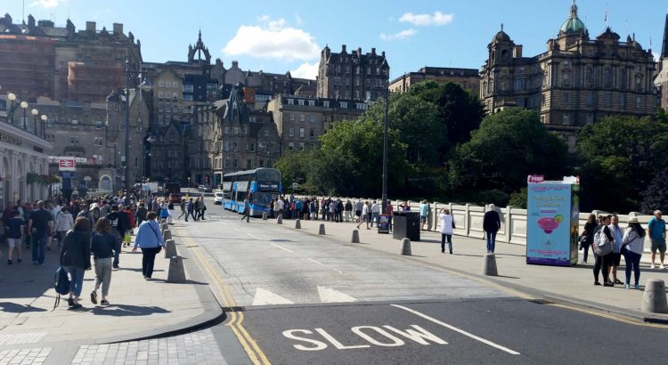 The road at Waverley Bridge