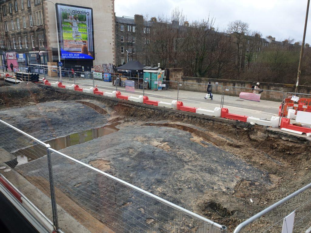 Edinburgh Tram Works Unearths Granton Line Tunnel