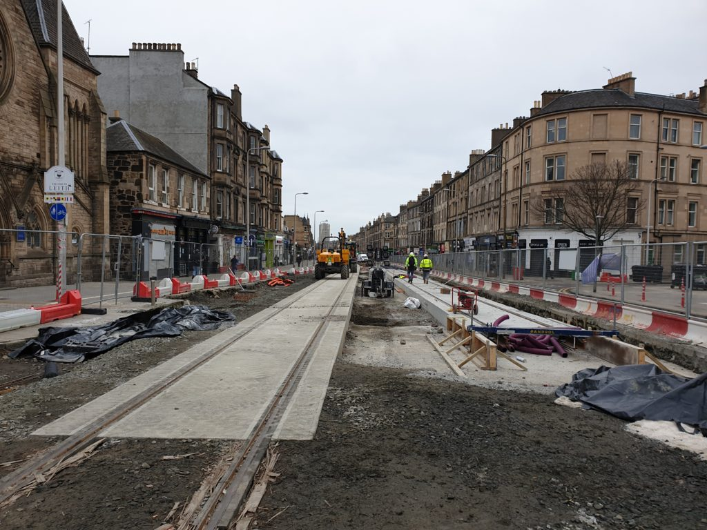 Good Progress with Edinburgh Tram Extension to Newhaven